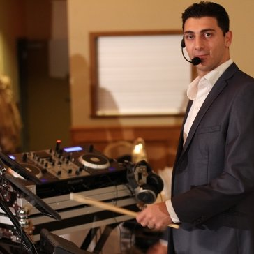 Eddie Drumming at a wedding