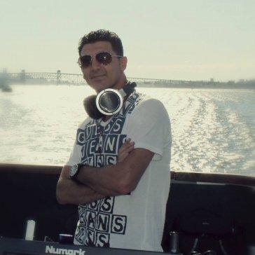 DJaying on a boat cruise