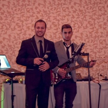 Alen Elias, Eddie, Sargon, & Edmon at a Wedding Party