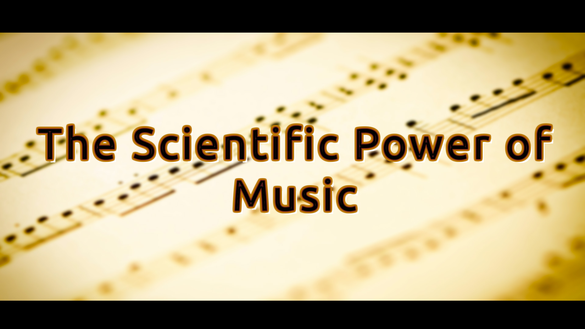 The Scientific Power of Music