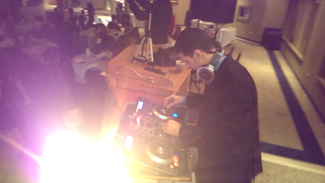 DJ Eddie at new year's eve party