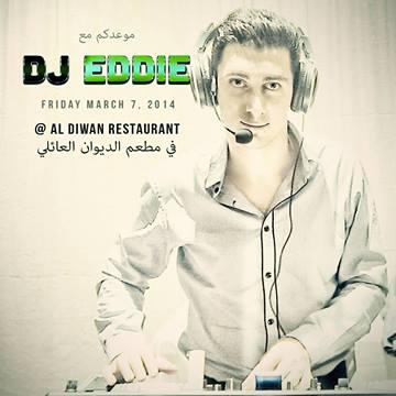 DJ Eddie at AlDiwan Restuarant in Vancouver BC