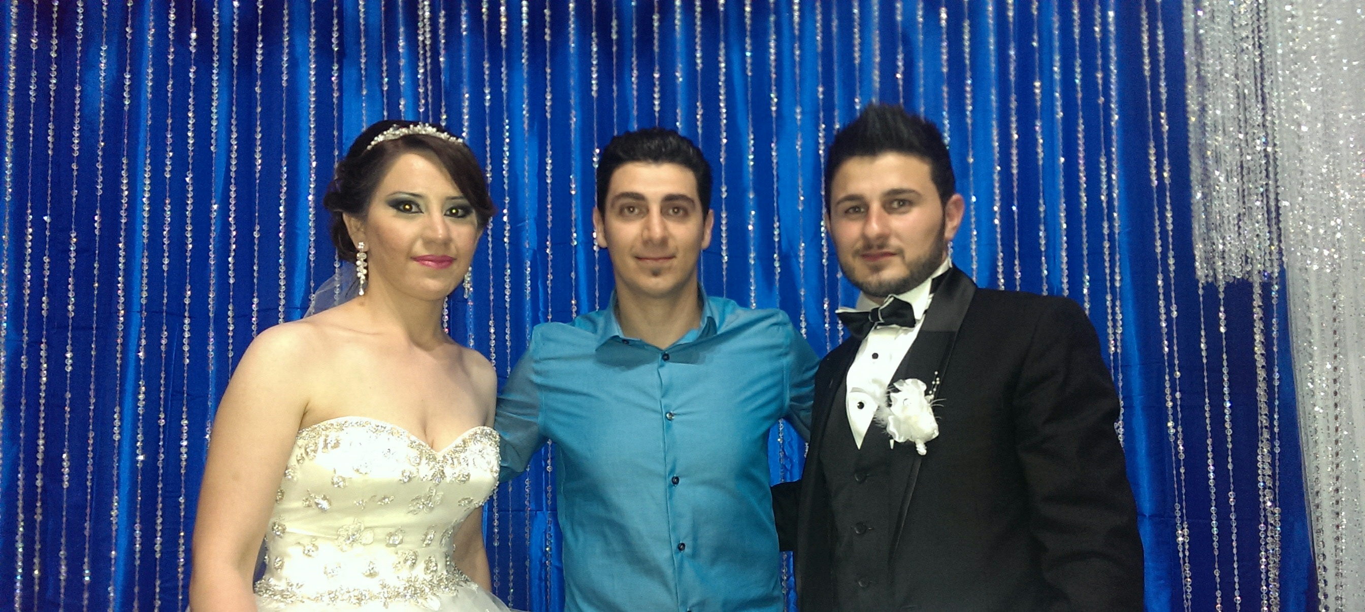 DJ Eddie with Evan & Ranya at their wedding night