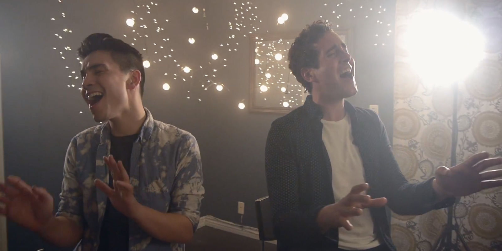 Thinking Out Loud and  I'm Not The Only One MASHUP Sam Tsui & Casey Breves
