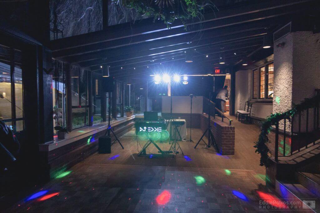 dj lights setup