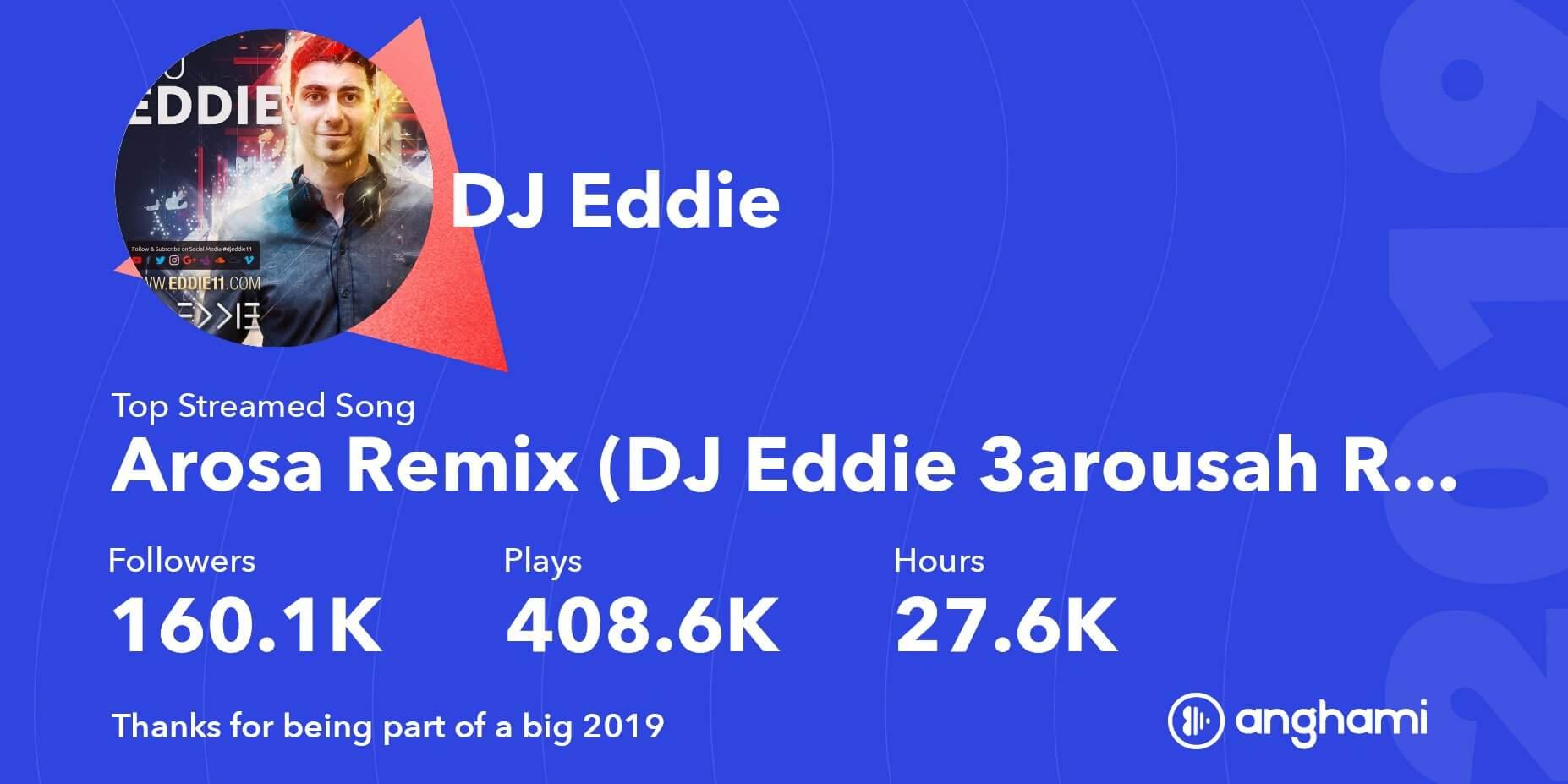 DJ Eddie on Anghami in 2019