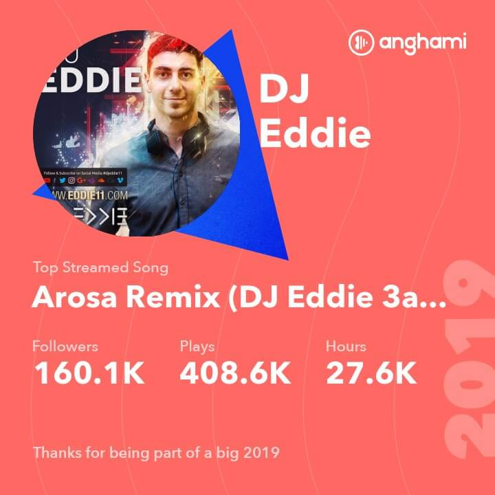 DJ Eddie on Anghami in 2019